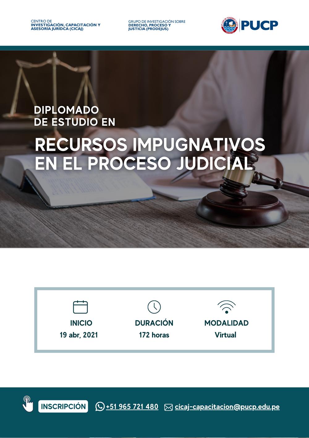 Diplomado de Estudio en Recursos Impugnativos en el Proceso Judicial