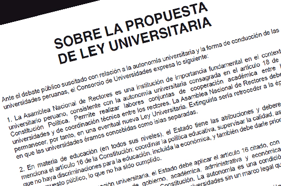 Sobre la propuesta de Ley Universitaria