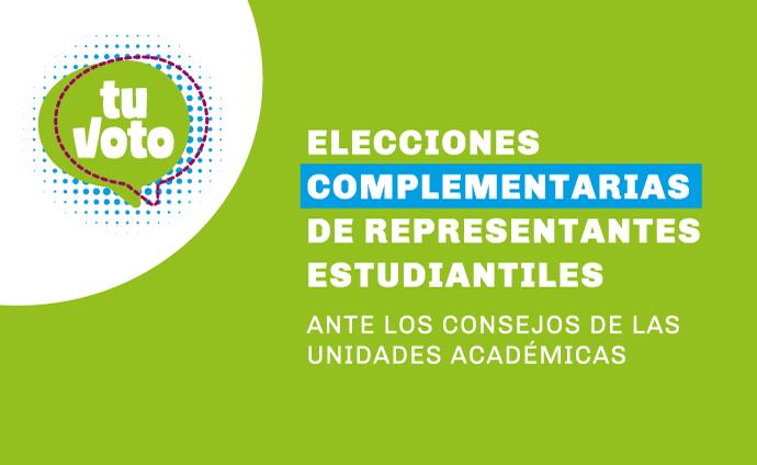 Ya puedes inscribirte a las Elecciones Complementarias de Representantes Estudiantiles ante los Consejos de las Unidades Académicas