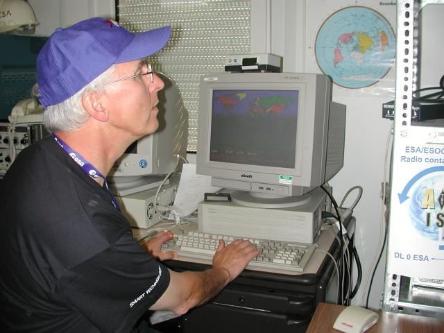 Boris Smeds preparing contact with ISS in 2004