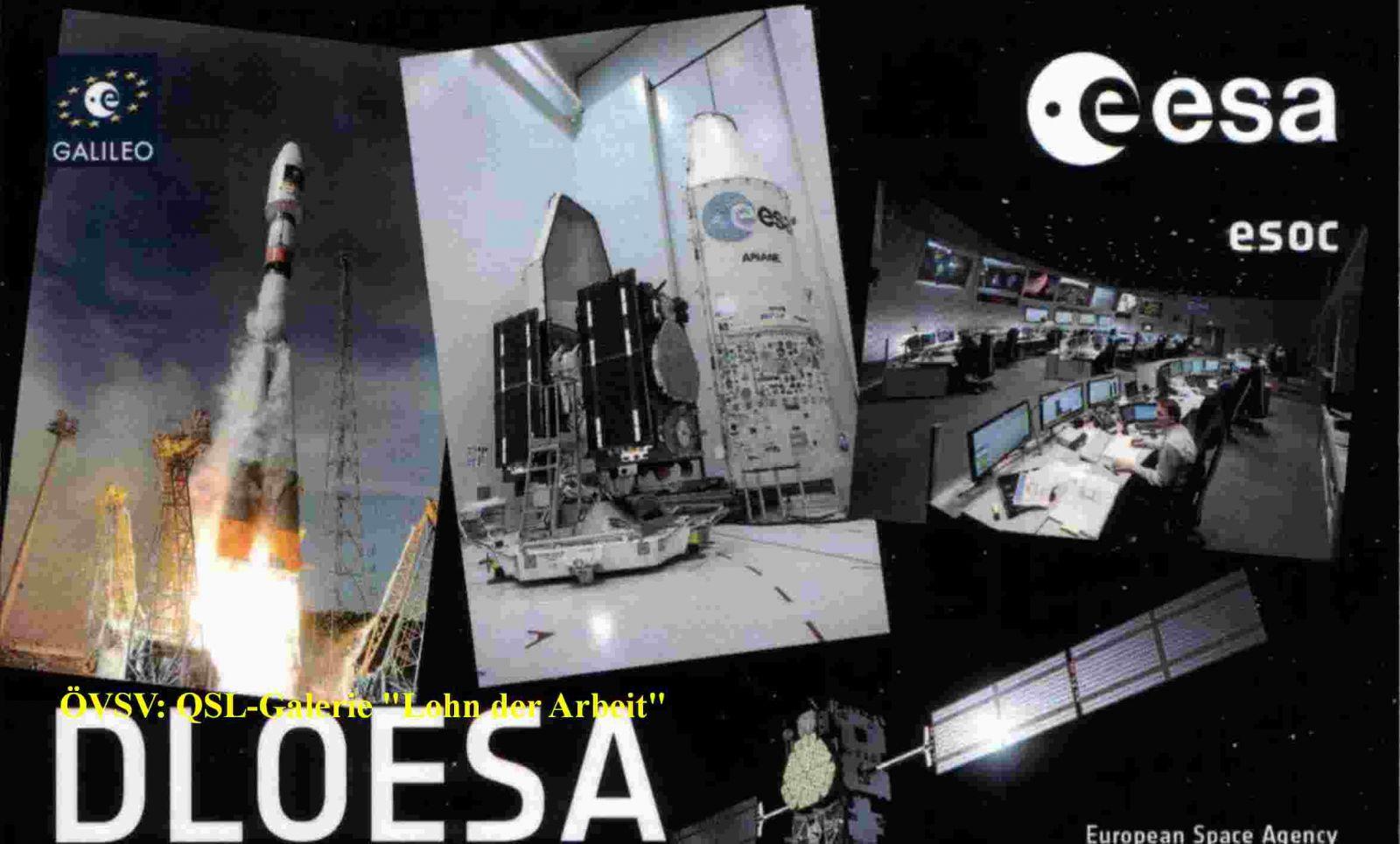 DL0ESA Galileo Activities QSL card
