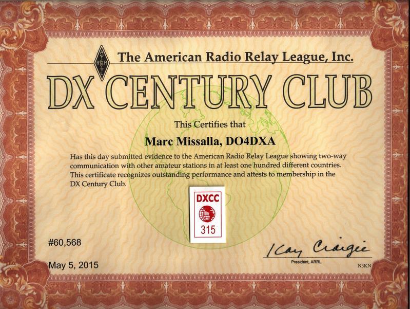 DXCC 315 DO4DXA