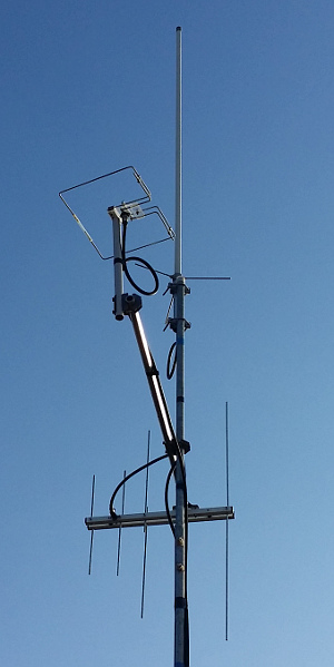 Le mie antenne in VHF ed UHF...