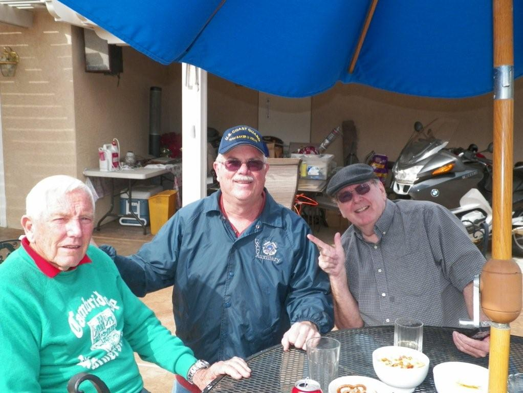 2014: Al Wilson ZL1BD (left) up from New Zealand for a few days.  After lunch with Randy KI6DGU (center) and yours truly.