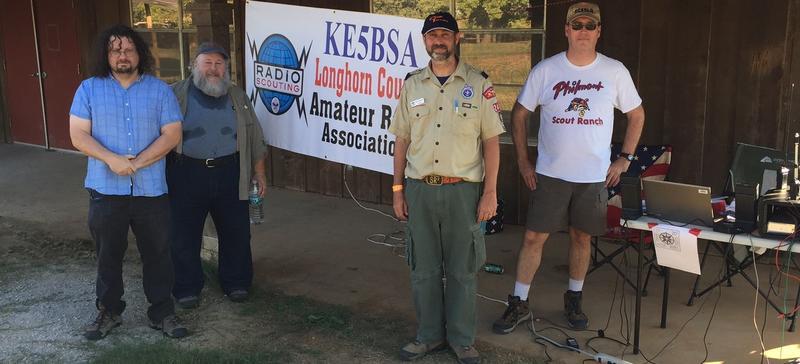 KE5BSA running a JOTA station at Sid Richardson Scout Ranch