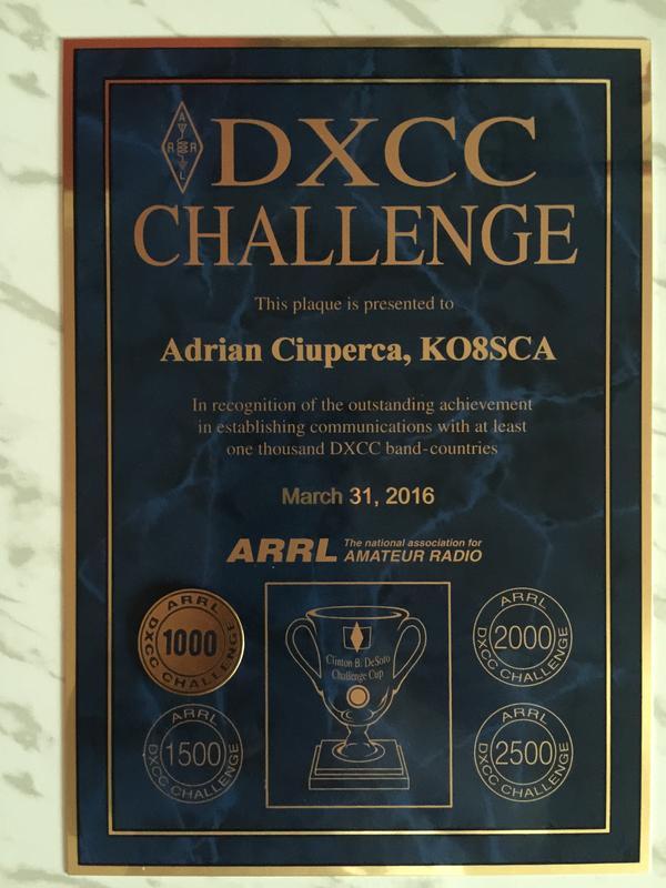 KO8SCA DXCC Challange