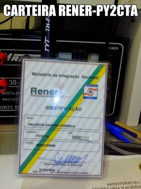 MEMBRO : RENER REDE NACIONAL DE EMERGÊNCIA DE RADIOAMADORES