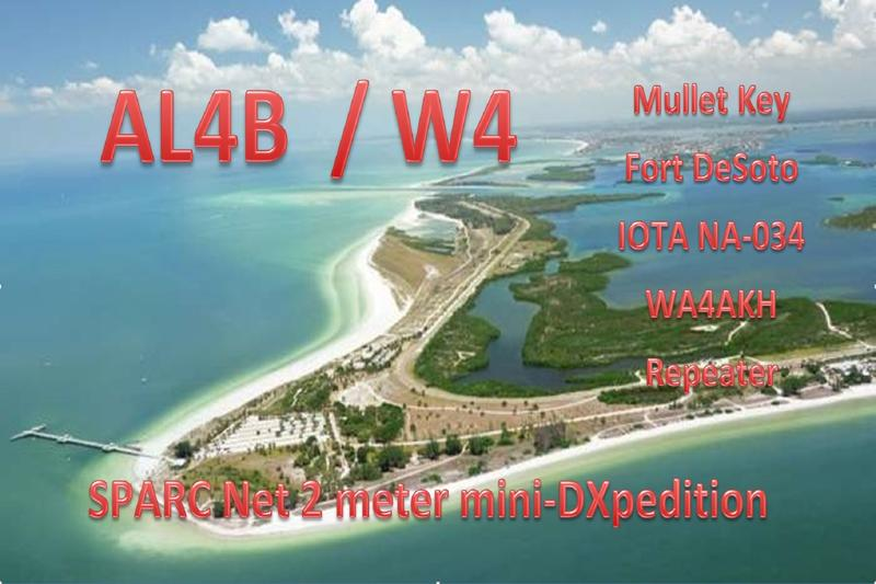 2 meter mini-DXpedition to Mullet Key and FOrt DeSoto, FLorida