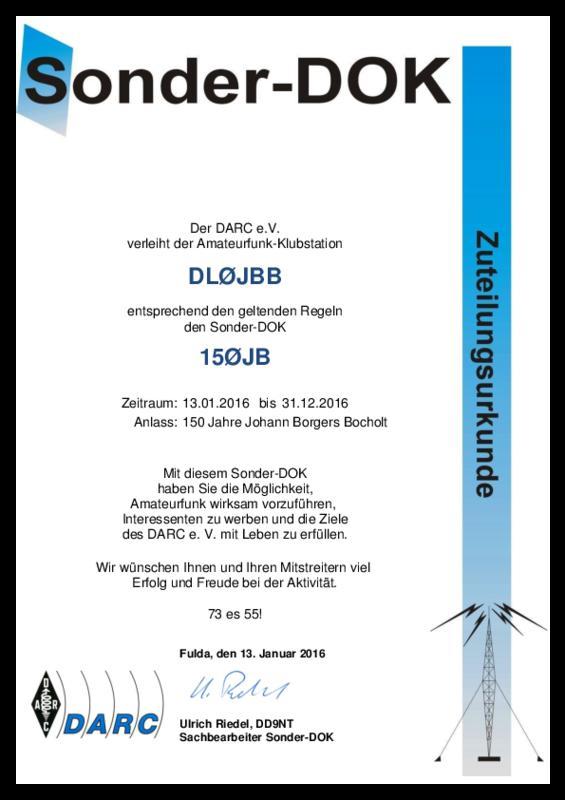 Dl0jbb callsign lookup qrz dxwatch dx cluster for Sonder bureau 13