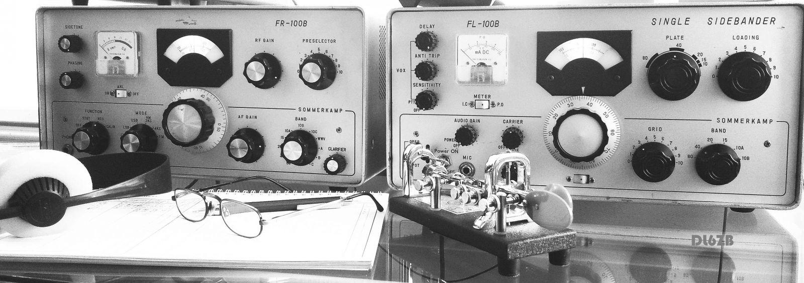My Rig: SOMMERKAMP F-LINE - ONLY TUBES MADE IN 1964 - KEYER: VIBROPLEX BLUE RACER BUG