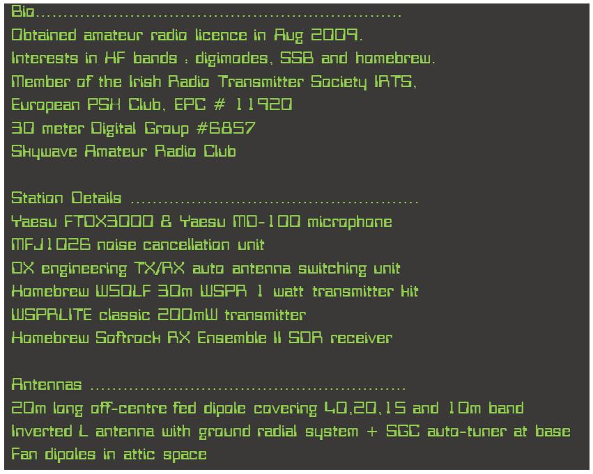 EI7GSB - Callsign Lookup by QRZ Ham Radio