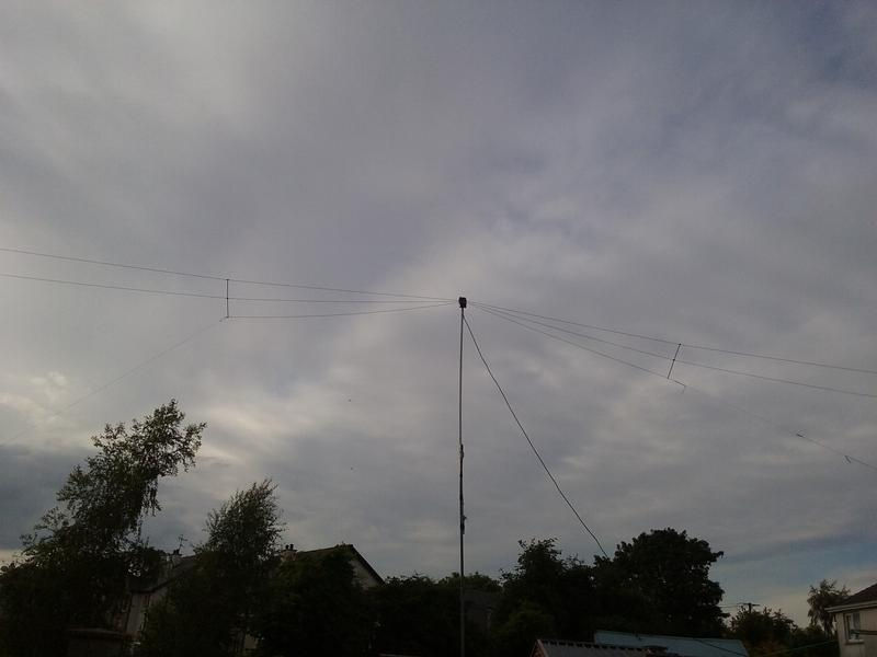 My paltry fan dipole at 5m height