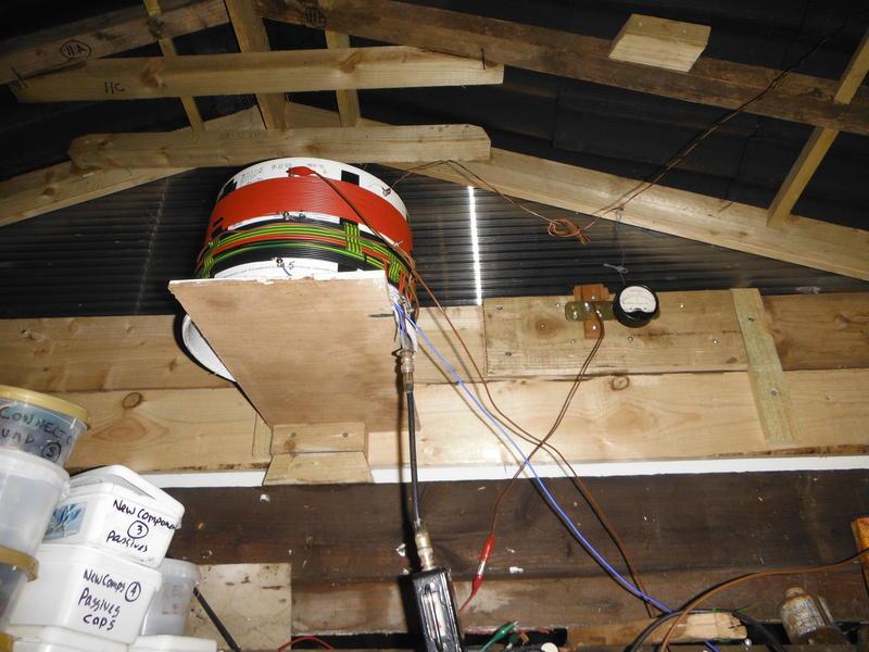 475 kHz loading coil in garage