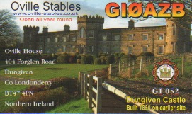 This castle is in Dungiven, it features on my QSL Card and the history is that many years ago family members lived in the rooms in the castle.