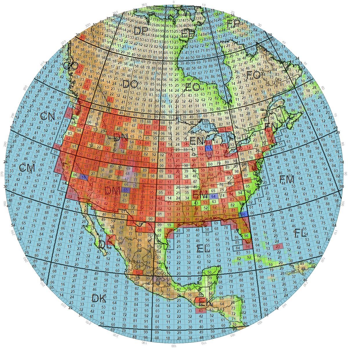 Satellite LotW VUCC Grid Map