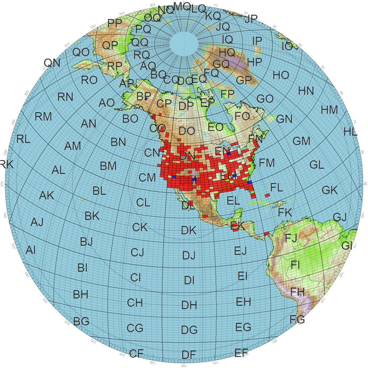Satellite World VUCC Grid Map