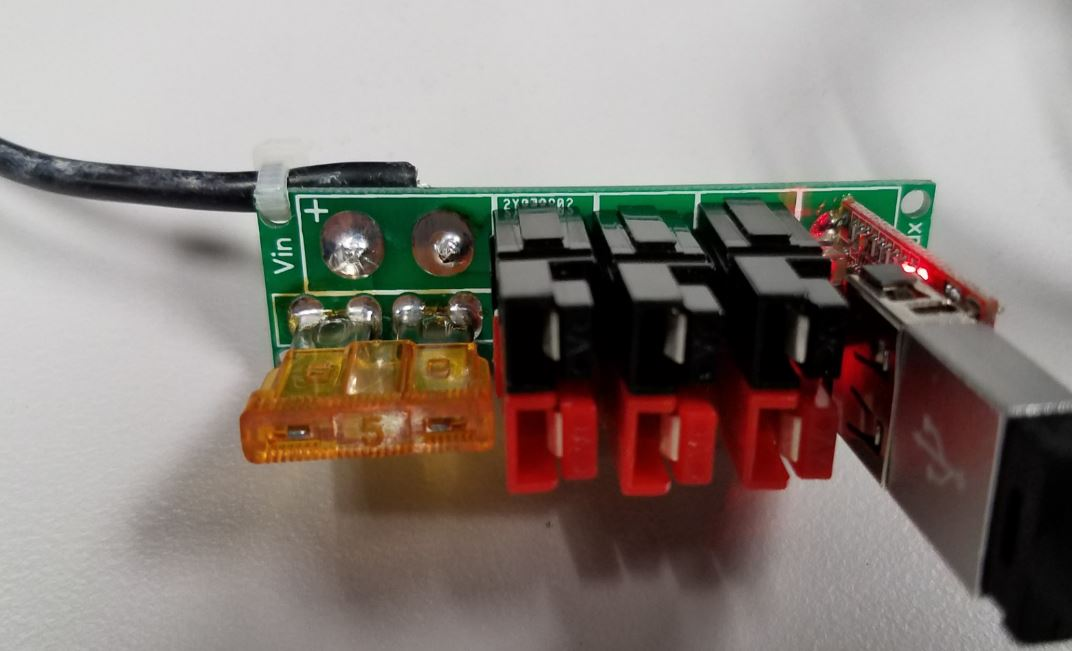 Power Connector with hard wired input and USB Power Module