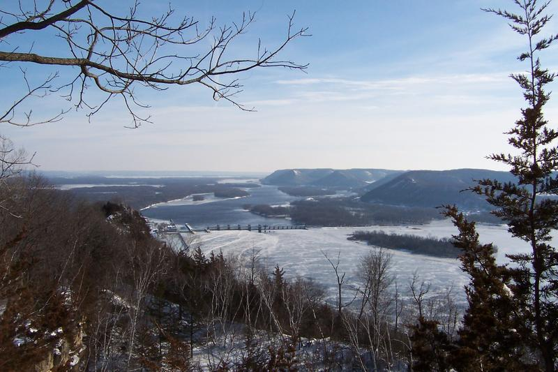 View of Mississippi River, SOTA activation of Eagle Bluff, Wisconsin.