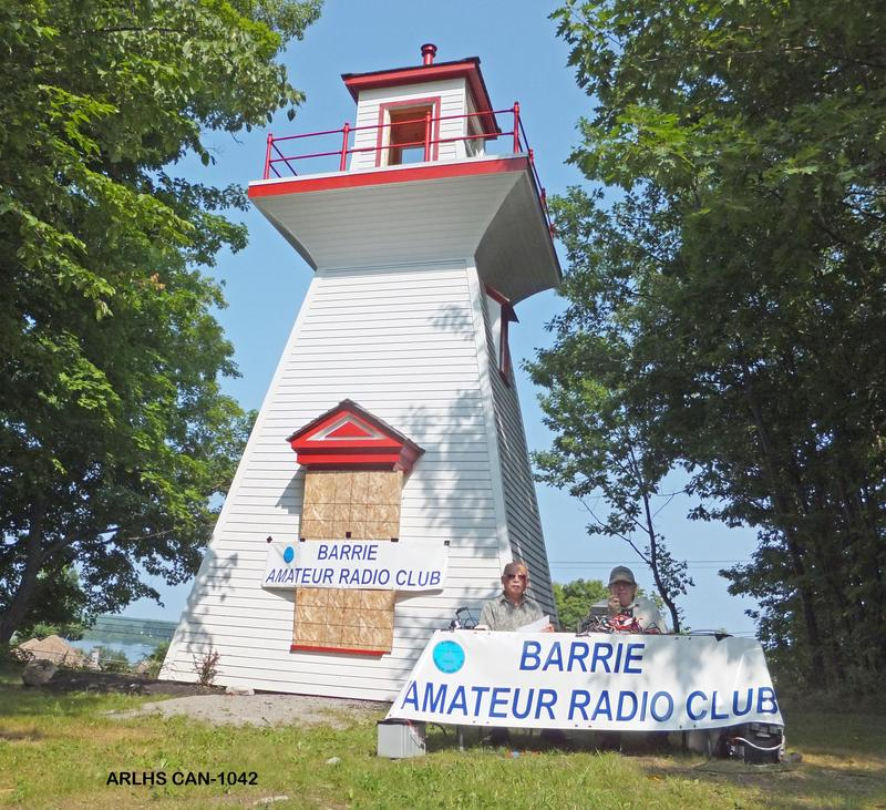 Several members of the Barrie Amateur Radio Club had fun activating lighthouse # ARLHS CAN-1042 located in Victoria Harbour on the shores of Georgian Bay. In this picture is Ian VA3QT at left and Al VE3RRD at right. Also taking part were Tom VE3THR, Pat VE3RNH and Ken VE3KDG.