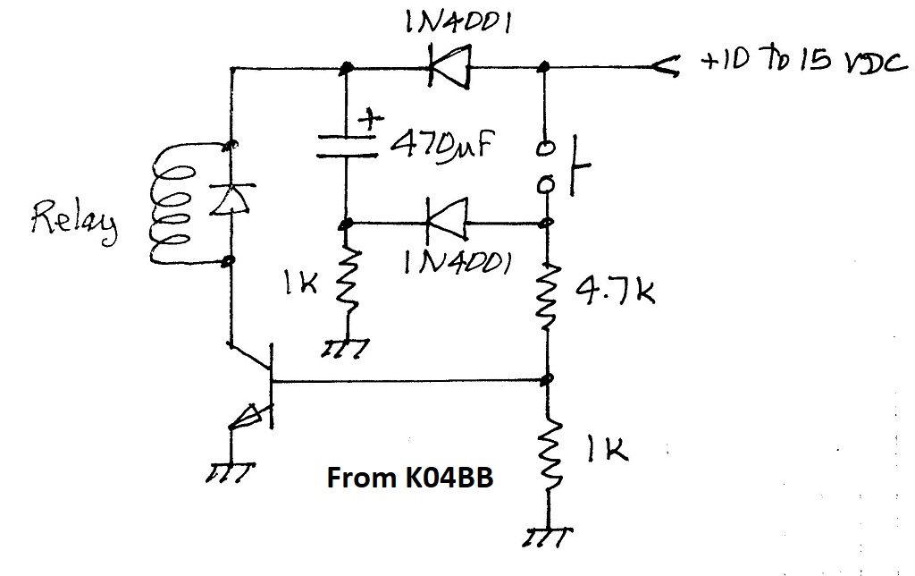 pictured at left is my implementation of this circuit to control two 24v  relays  the plan is to couple the relays together to form a 1 of 3 selector  for low