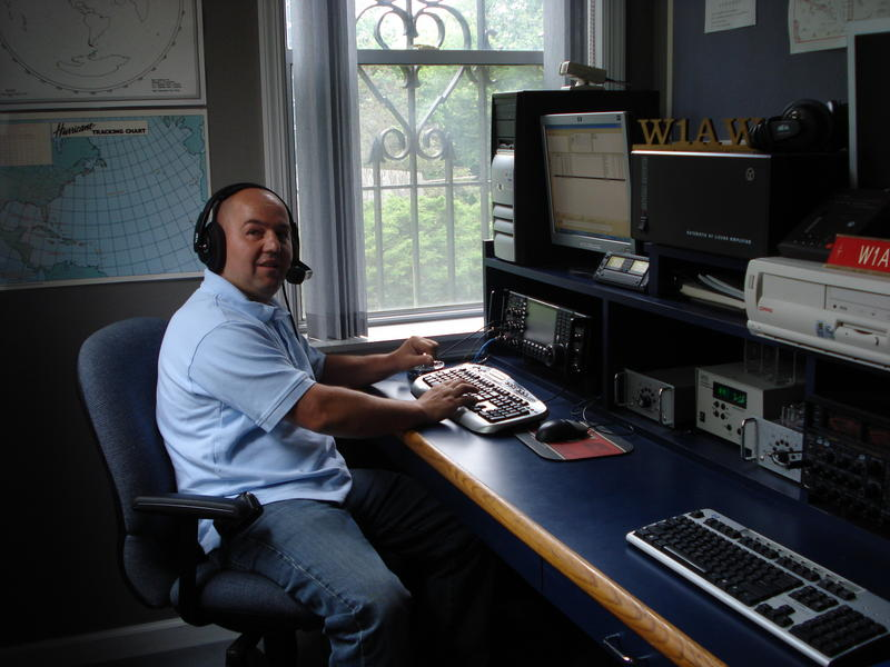 while operating  W1AW station