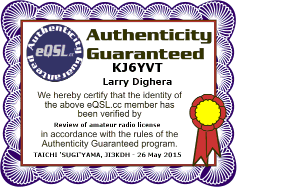 eQSL Authenticity Guaranteed