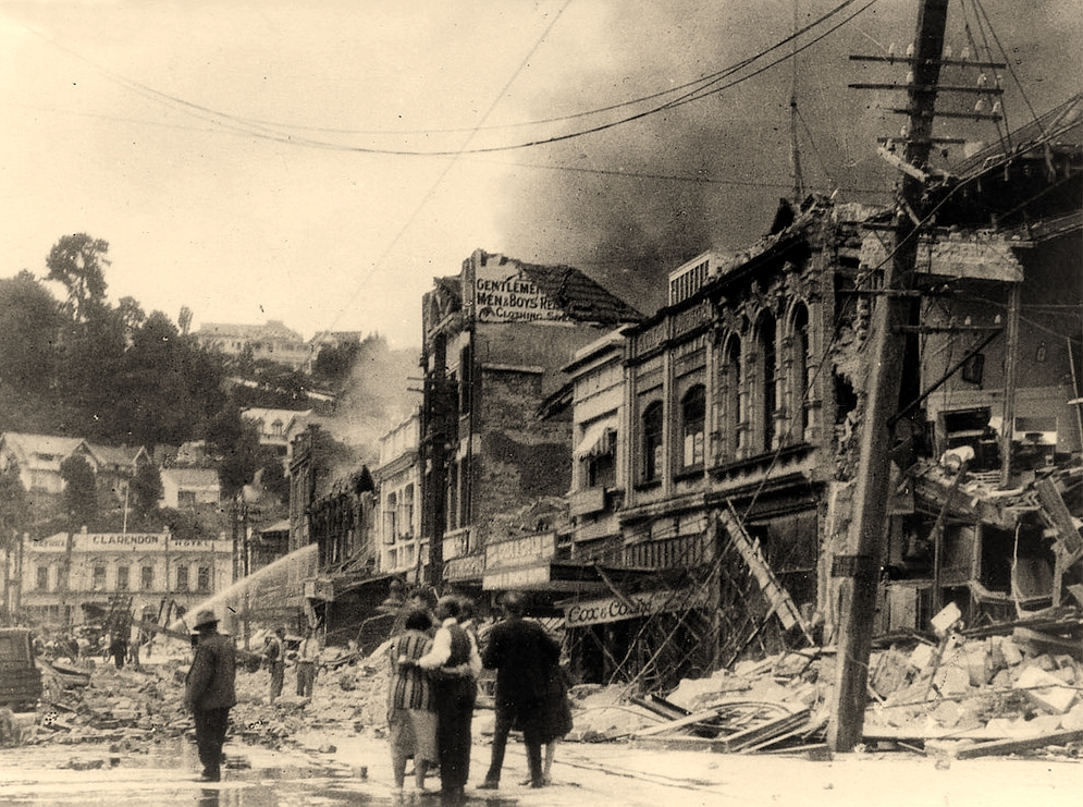 Napier city after 1934 quake