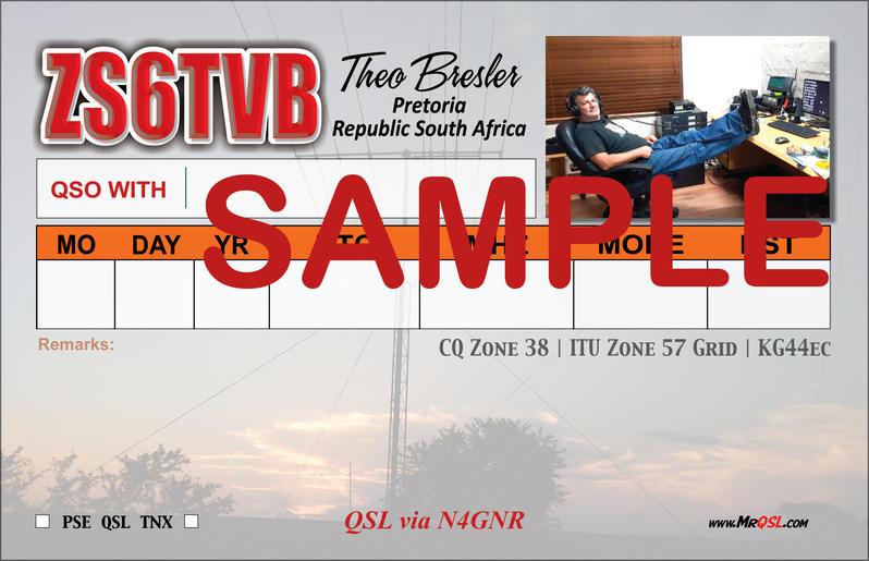 QSL ZS6TVB Back