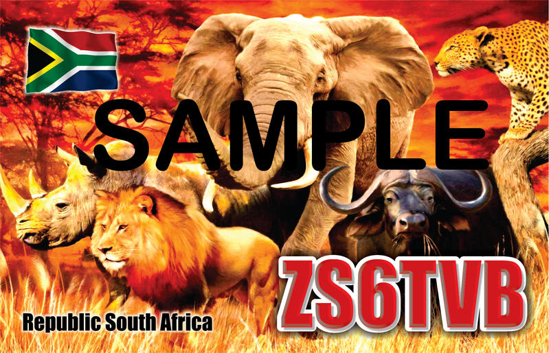 QSL ZS6TVB Front