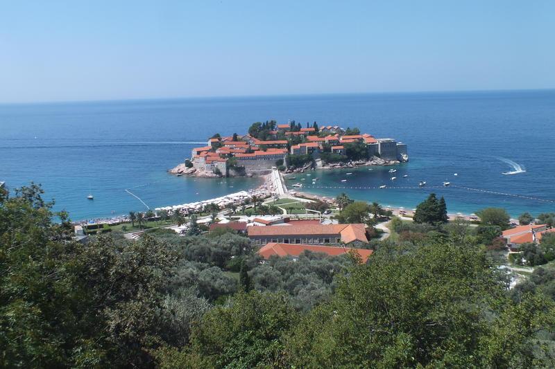 Sveti Stefan island, one of Montenegro symbol