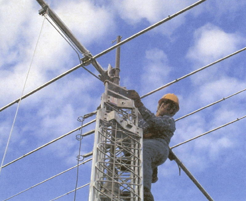 Doing the tower work for install at KL7HRN