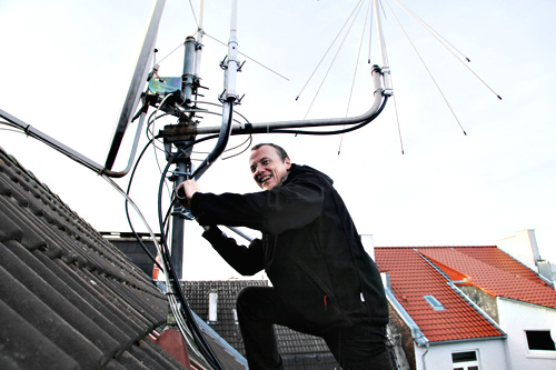 Antenne on the roof