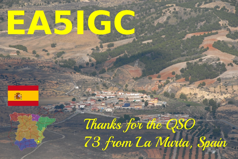 EA5IGC QSL Card