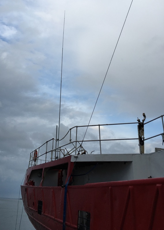 40m vertical on the stern of the MV Ross Revenge