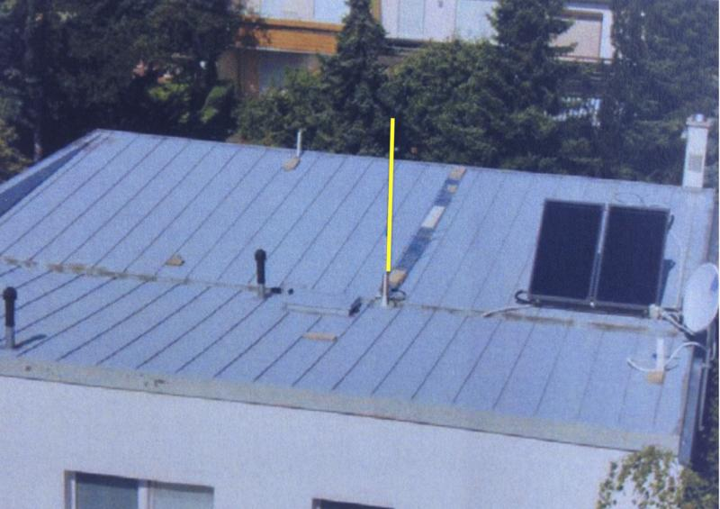 VRT: 20m 6m Vertical Monopole Above Metal Roof