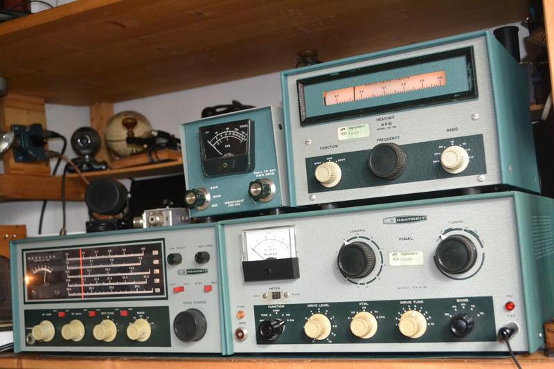 Heathkit DX-60b, HR-10B, HG-10 , HM2102