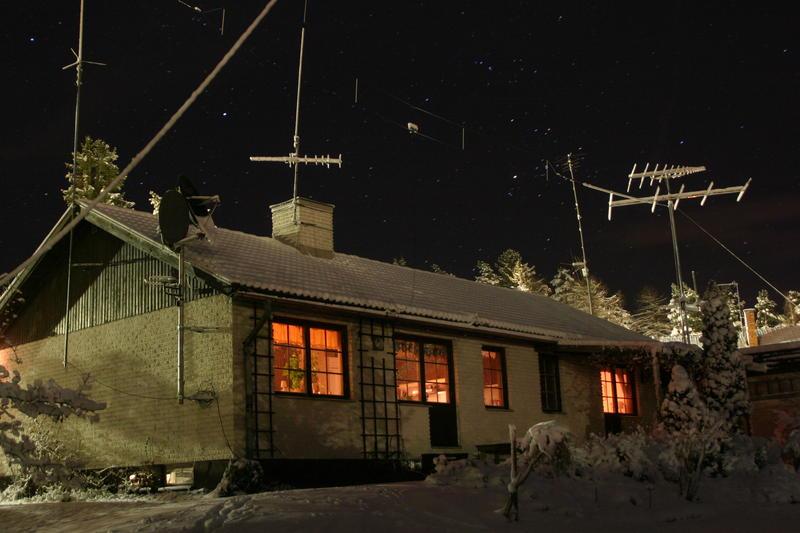 Cold winter in Sweden.
