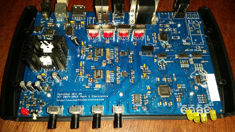 My own creation, the MultiDigi USB based sound and data interface.