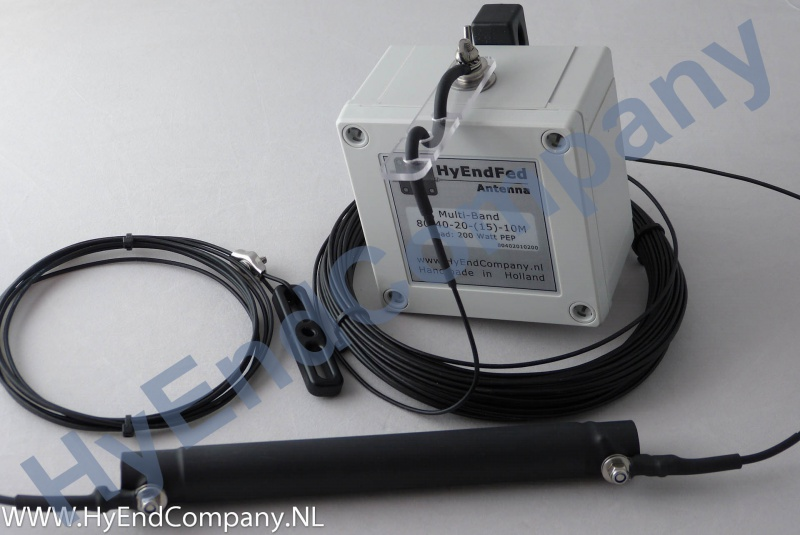 HyEndFed 5 Band 80/40/20/(15)/10m Resonant End-Fed Antenna