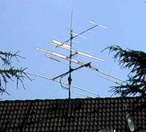 my Antenna on the top of the house