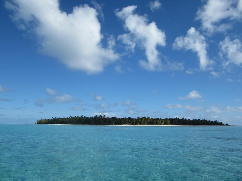 Palmerston Atoll -- 500 metres wide and 3 metres high!