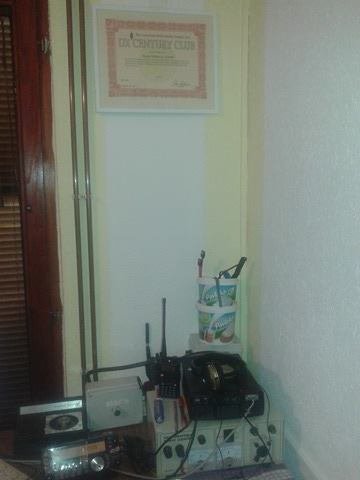 My PPS rtx TS 480 sat, on the wall of the DXCC CW diploma