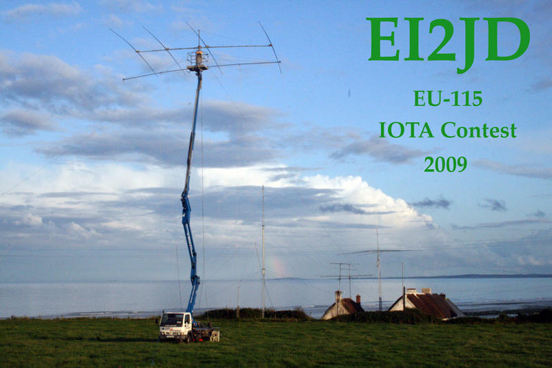 Pic of antennae setup at the QTH of EI2JD