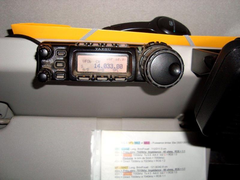 FT-857 detachable front panel