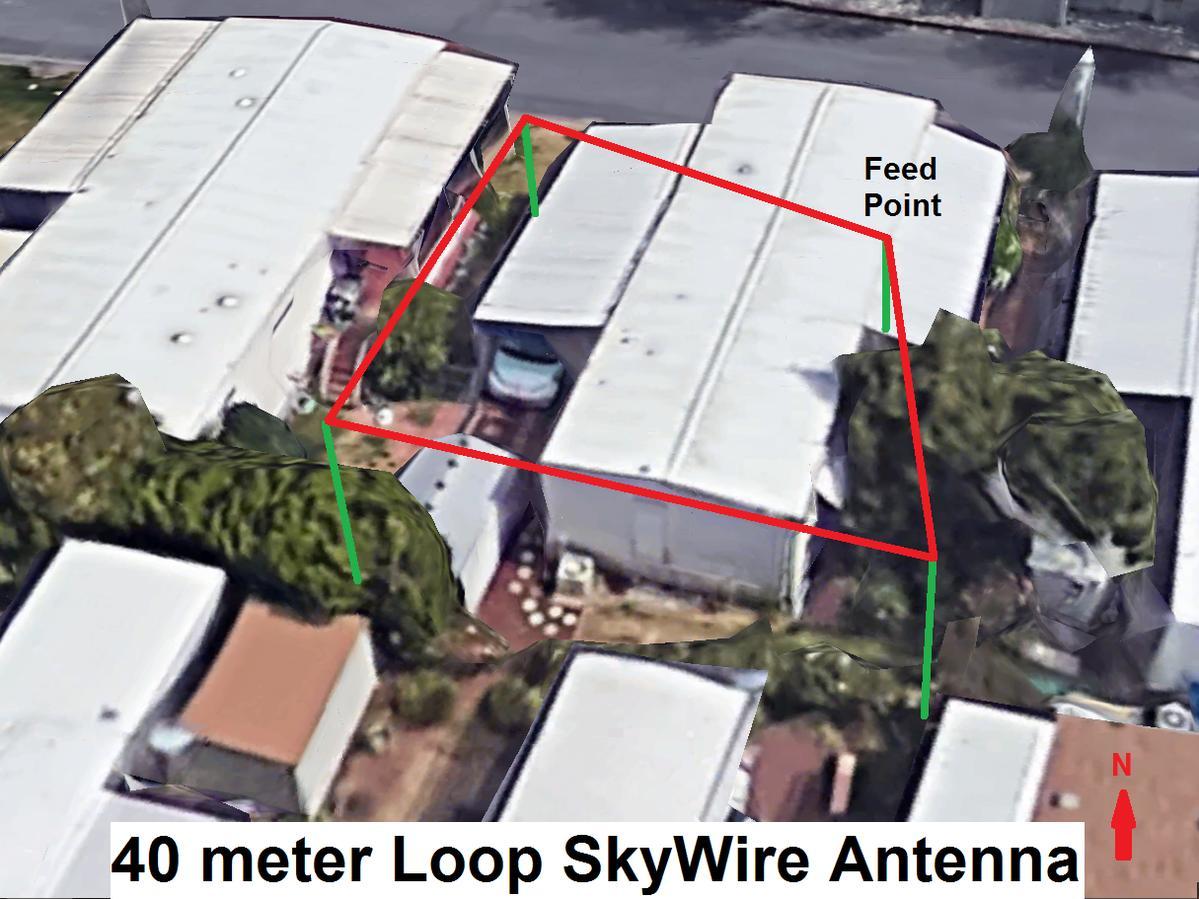 40 meter Horizontal Loop Skywire Antenna