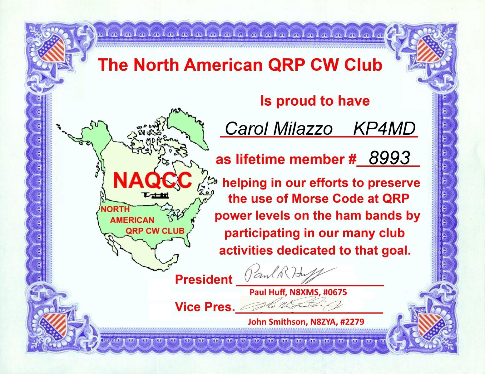 North American QRP CW Club #8993