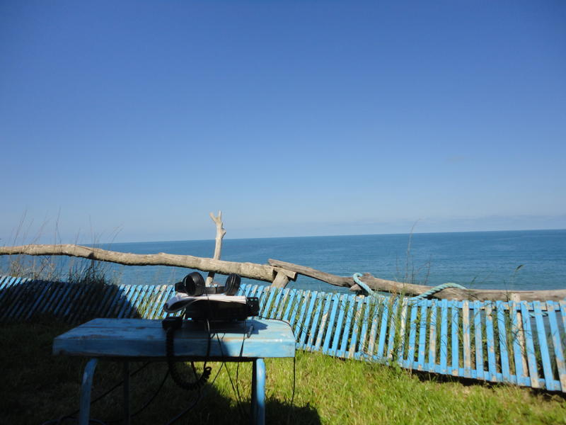 Alinco DX 70 , LZ1DMF/p Delfin camping near Varvara