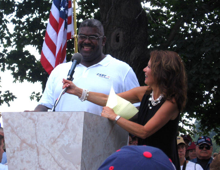 Me speaking at  Congresswoman Michelle Bachman's rally in Washington, DC.