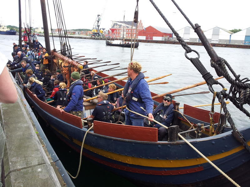 Arriving in Danish port of Korsor