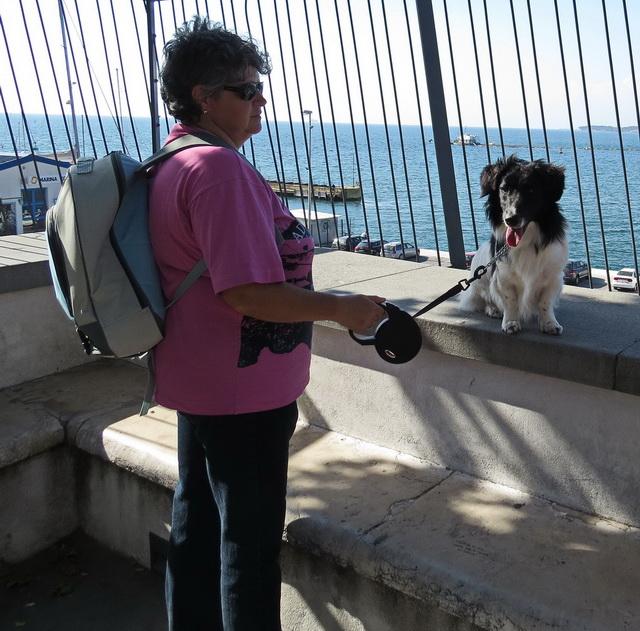 My wife Lidija, S56WLD, and our dog Črta ( Chrta)